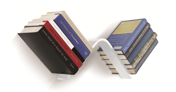 Conceal Boekenplank Umbra : Umbra conceal l vormige boekenplank wit coolblue alles voor een