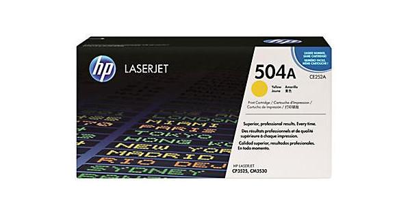 HP 504A LaserJet Toner Geel (CE252A)