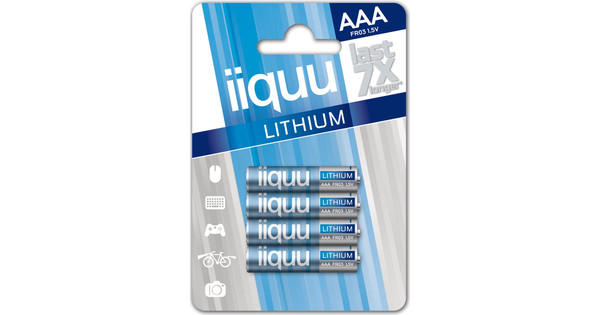 iiquu lithium AAA 4-pack + cleaning + geheugen