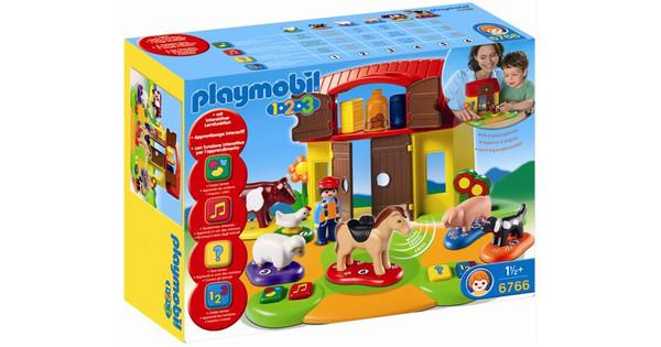 professionele verkoop verschillende kleuren verschillende ontwerpen Playmobil 1.2.3. Interactieve boerderij 6766