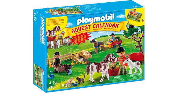 Playmobil Weihnachtskalender.Playmobil Adventskalender Paardenranch 4167