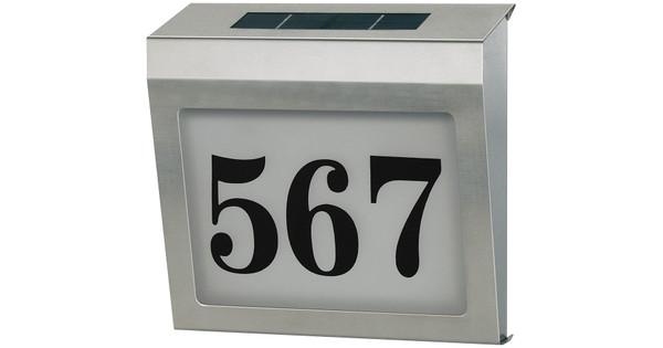 Brennenstuhl Solar Verlicht huisnummer - Coolblue - alles voor een ...
