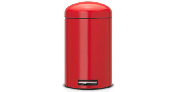 Brabantia Pedaalemmer Retro Bin.Brabantia Retro Bin 12 Liter Passion Red