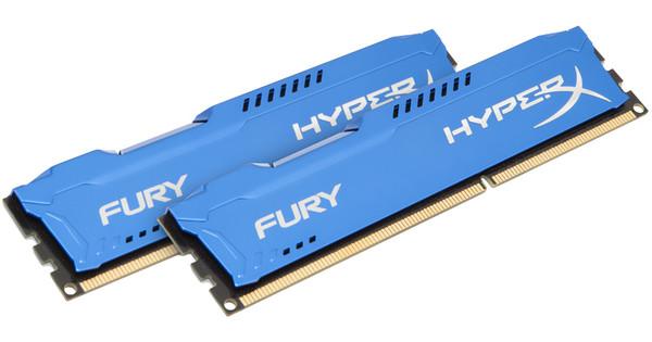 Kingston HyperX FURY 8GB DDR3 DIMM 1600 MHz Blauw (2x4GB)