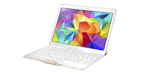 Samsung Book Cover Keyboard Galaxy Tab S 10.5 Qwerty White