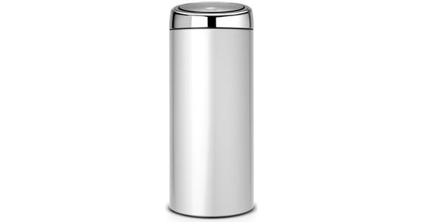 Brabantia Touch Bin 30l Grijs.Brabantia Touch Bin 30 Liter Metaalgrijs