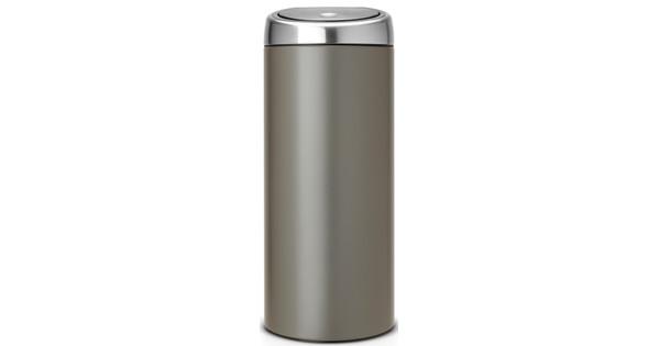 Brabantia 30 Liter Afvalemmer.Brabantia Touch Bin 30 Liter Platinum Coolblue Voor 23 59u