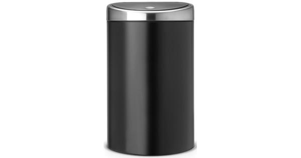 Brabantia Prullenbak 40 Liter.Brabantia Touch Bin 40 Liter Mat Zwart Coolblue Voor 23 59u