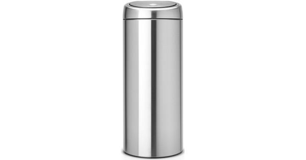 Aanbieding Brabantia Touch Bin 30 Ltr.Brabantia Touch Bin 30 Liter Matt Steel Fingerprint Proof Coolblue