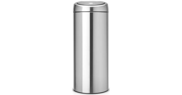 Brabantia Touch Bin 30 Liter Mat Staal.Brabantia Touch Bin 30 Liter Matt Steel