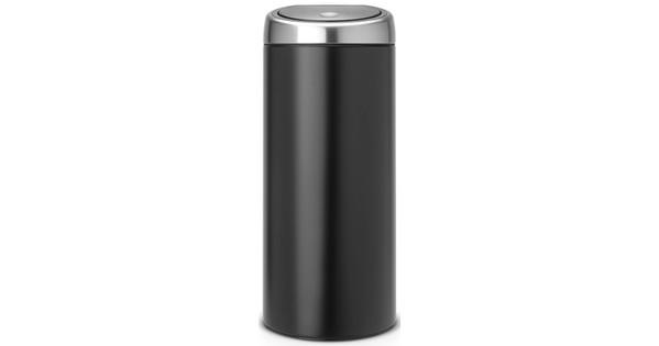 Brabantia Touch Bin 30 L Mat Zwart.Brabantia Touch Bin 30 Liter Zwart