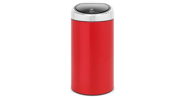 Prullenbak Brabantia Touch Bin 45 Liter.Brabantia Touch Bin 45 Liter Lipstick Red