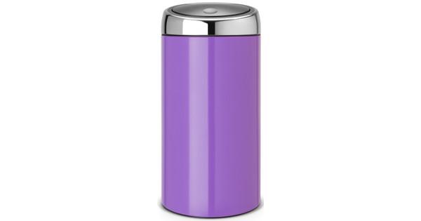 Prullenbak Brabantia Touch Bin 45 Liter.Brabantia Touch Bin 45 Liter Pansy Purple