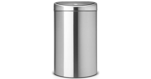 Prullenbak Brabantia Touch Bin 10 Liter.Brabantia Touch Bin Recycle 10 23 Liter Matt Steel Fingerprint Proof