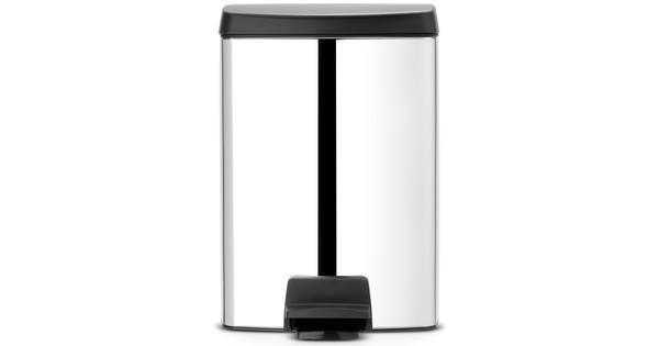Pedaalemmer Brabantia 10 Liter.Brabantia Pedaalemmer Rechthoekig 10 Liter Brilliant Steel