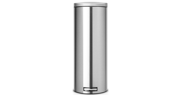 Brabantia 20 Liter Pedaalemmer.Brabantia Pedaalemmer Slimline Silent 20 Liter Matt Steel Fingerprintproof
