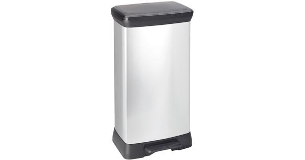 Curver Decobin 50 Liter Zilver
