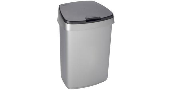 Curver Afvalbak Plat 25 Liter Grijs