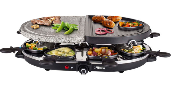 Princess Raclette 8 Oval Stone & Grill Party 162710