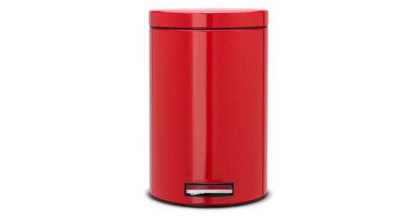 Brabantia Pedaalemmer Rood.Brabantia Pedaalemmer 12 Liter Passion Red
