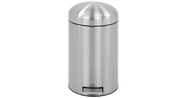 Brabantia Pedaalemmer Retro Bin.Brabantia Retro Bin 12 Liter Rvs Mat Fingerprint Proof