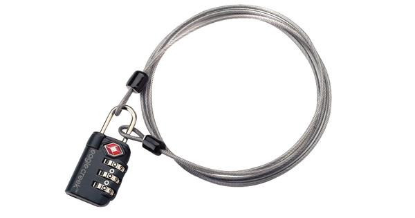 Eagle Creek 3-Dial TSA Lock & Cable Graphite