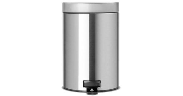 Rvs Pedaalemmer Badkamer : Brabantia pedaalemmer liter matt steel coolblue voor u