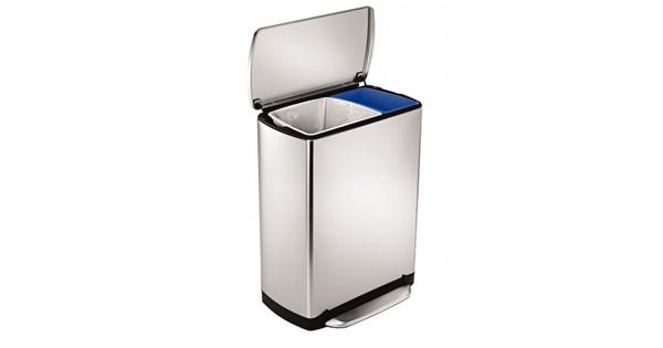 Simplehuman Afvalemmer Rectangular 38 Liter Mat Rvs.Simplehuman Rectangular New Generation Gft 30 16 Liter Coolblue