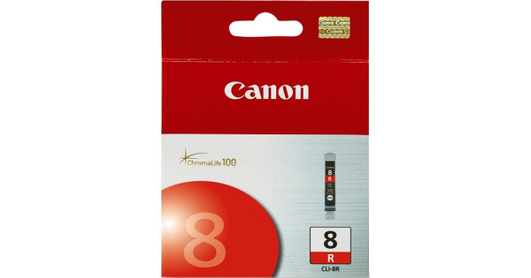 Canon CLI-8R Red Cartridge + Fotopapier 10 x 15 (100 vel)