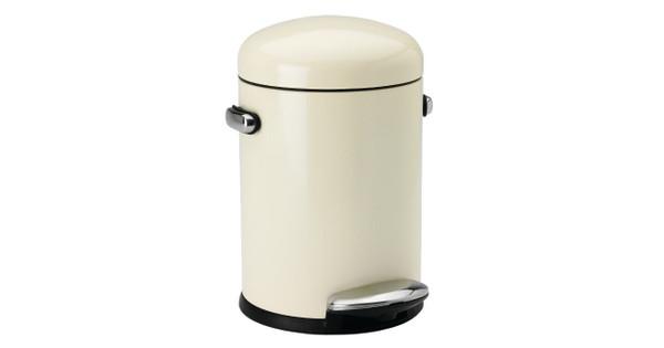 Bekend Simplehuman Retro Stepcan 3 Liter Crème - Coolblue - Voor 23.59u CV08