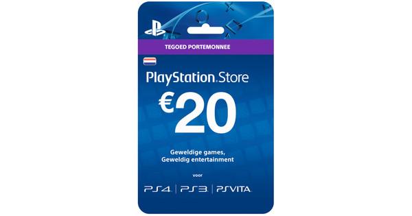 Playstation Network Voucher Card 20 Euro Nl Coolblue Voor 23 59u