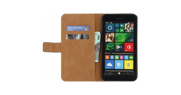 Mobilize Classic Wallet Book Case Microsoft Lumia 640 XL Zwart