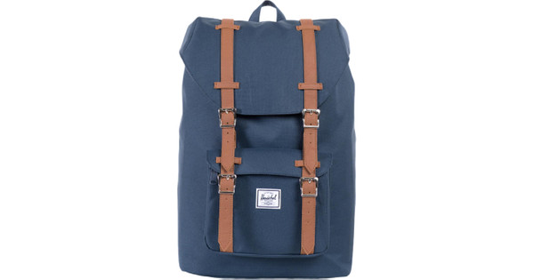 Herschel Little America Mid-Volume Navy Tan Synthetic Leather - Coolblue -  Before 23 59 b545193f649ab