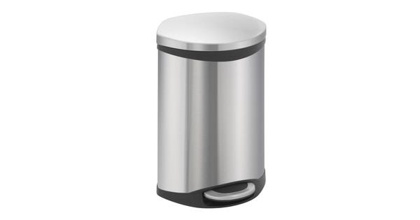 Rvs Pedaalemmer Badkamer : Eko shell bin liter mat rvs coolblue voor u morgen in