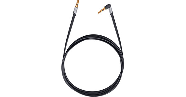 Oehlbach i-Jack 3,5 mm naar 3,5 mm Kabel 1,5 Meter Zwart