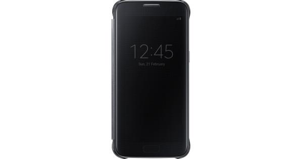 Samsung Galaxy S7 Clear View Cover Zwart