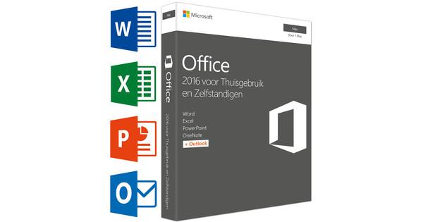 Microsoft Office 2016 Mac Thuisgebruik en Zelfstandigen NL