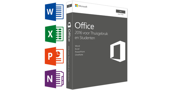 Microsoft Office 2016 Mac Thuisgebruik en Studenten UK