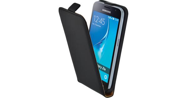 Mobiparts Essential Flip Case Samsung Galaxy J1 (2016) Zwart