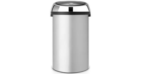 Brabantia Touch Bin 50 Liter Zwart.Brabantia Touch Bin 50 Liter Metallic Grey