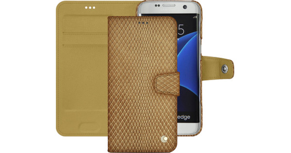 Noreve Tradition B Snake Leather Case Samsung Galaxy S7 Beige