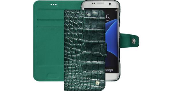 Noreve Tradition B Crocodile Leather Case Samsung Galaxy S7 Edge Groen
