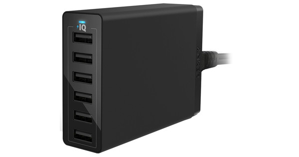 Anker PowerPort 6 Ports 12A Black