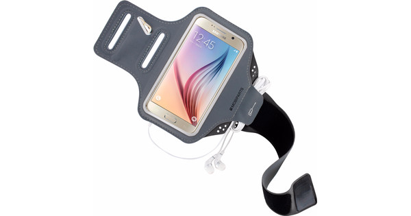 Mobiparts Comfort Fit Sports Bracelet Samsung Galaxy S6 Gray