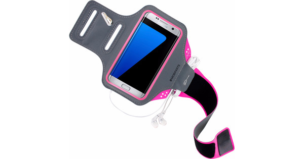 Mobiparts Comfort Fit Sports Bracelet Samsung Galaxy S7 Edge Pink
