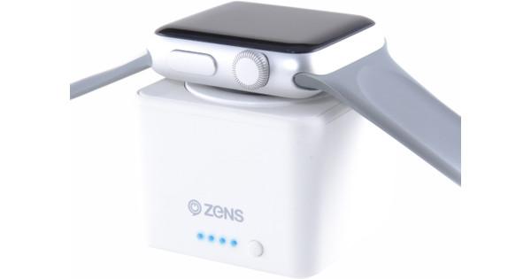 Zens Apple Watch Power Bank White
