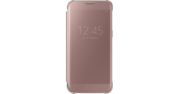 Samsung Galaxy S7 Clear View Cover Rose Gold - Coolblue - Voor 23.59 ... 9b655b5d5fe8