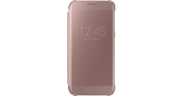Samsung Galaxy S7 Edge Clear View Cover Rose Gold - Coolblue - Voor ... 616093c4bf71