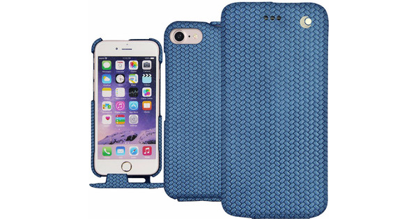 Noreve Tradition Woven Leather Case Apple iPhone 7 Plus Blauw