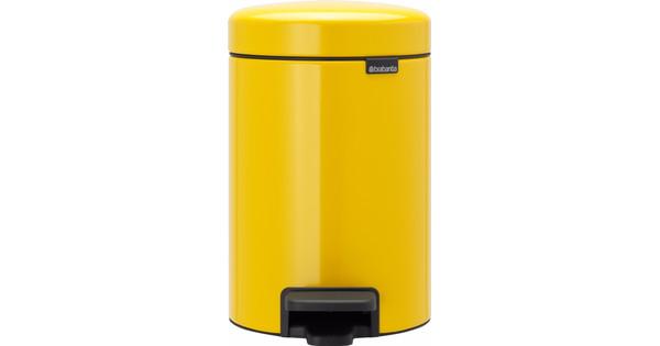 Brabantia NewIcon Pedaalemmer 3 Liter Geel